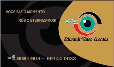 Edivanil Vídeo Eventos - Cinegrafista